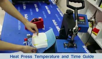 Heat Press Temperature Chart and Time