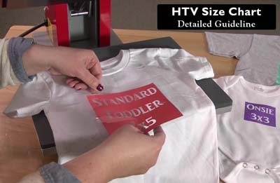 HTV Size Chart: Guideline