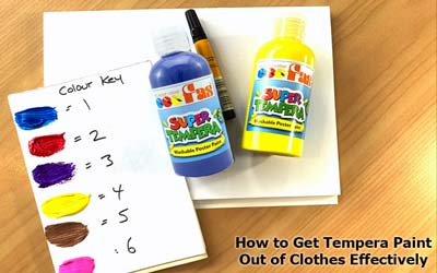 how to get tempera paint out of clothes