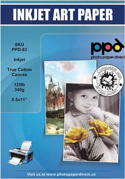 PPD Inkjet Canvas 100% Real Printable Cotton