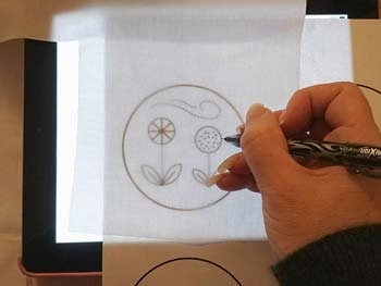 Place Tracing Paper On Image