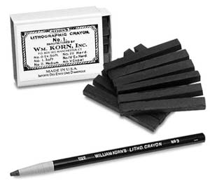 Lithographic Crayons And Pencil