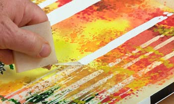remove the masking fluid