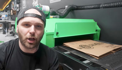 how to print on cardboard boxes