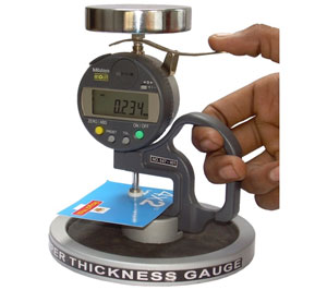 Measuring Paper Thickness with a Caliper