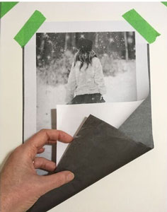 Taping to Graphite paper